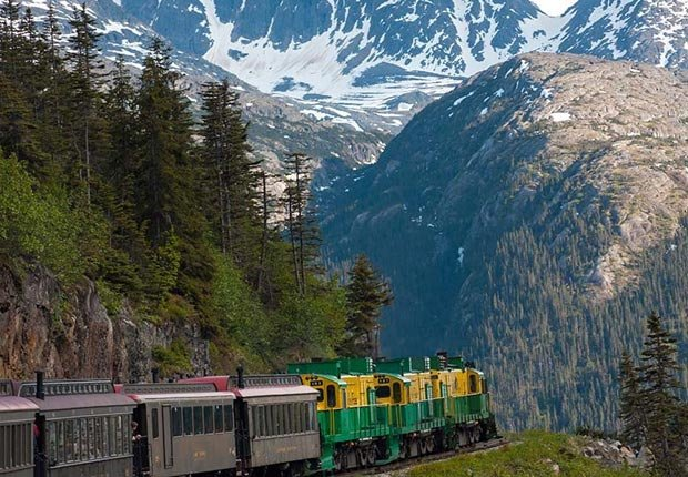 Tren White Pass & Yukon Route Railroad, Alaska - Los 10 mejores viajes en tren para este otoño en Estados Unidos