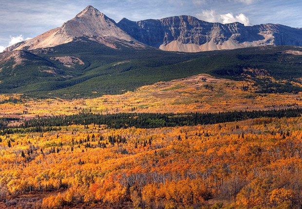 Parque nacional Glacier en Montana, 10 mejores viajes para el otoño