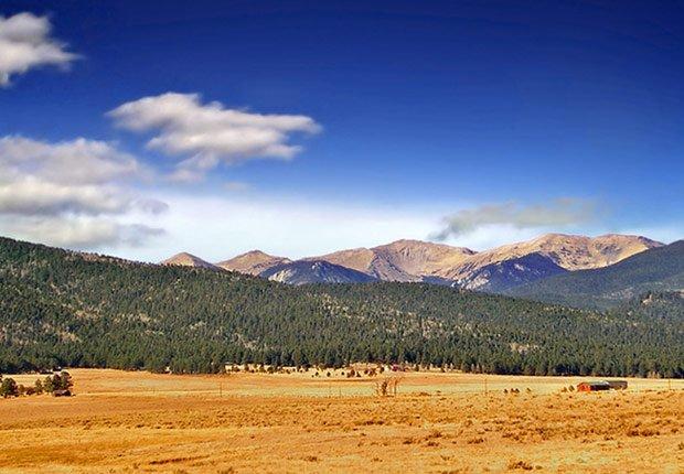 Montañas Sangre de Cristo Mountains en Nuevo México, 10 mejores viajes para el otoño