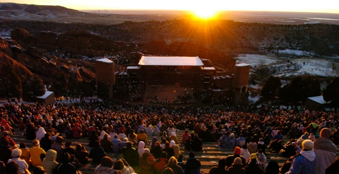 Denver's Red Rocks Park & Amphitheatre, Colorado