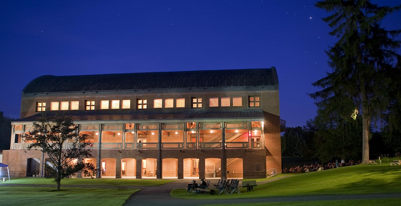 The grounds at the Tanglewood concert facility in Lenox Massachusetts