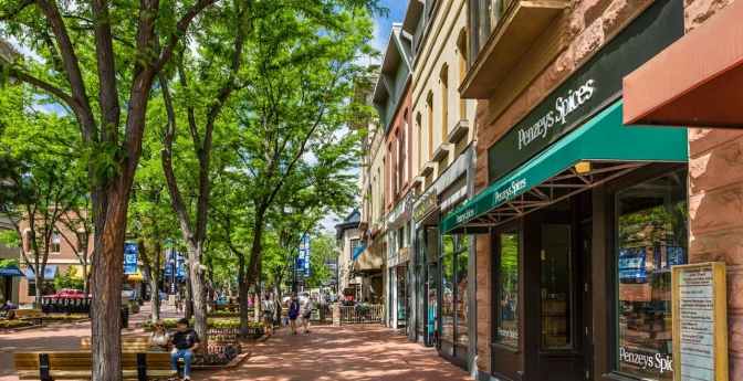 The Pearl Street Mall in downtown Boulder, Colo., hosts numerous events showcasing author readings, artisans and microbrews.