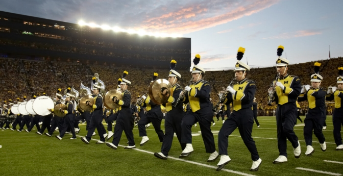 The home of the University of Michigan Wolverines has drawn crowds of 100,000 for more than 200 games running.
