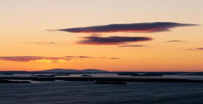 First Sunrise: Cadillac Mountain, Maine