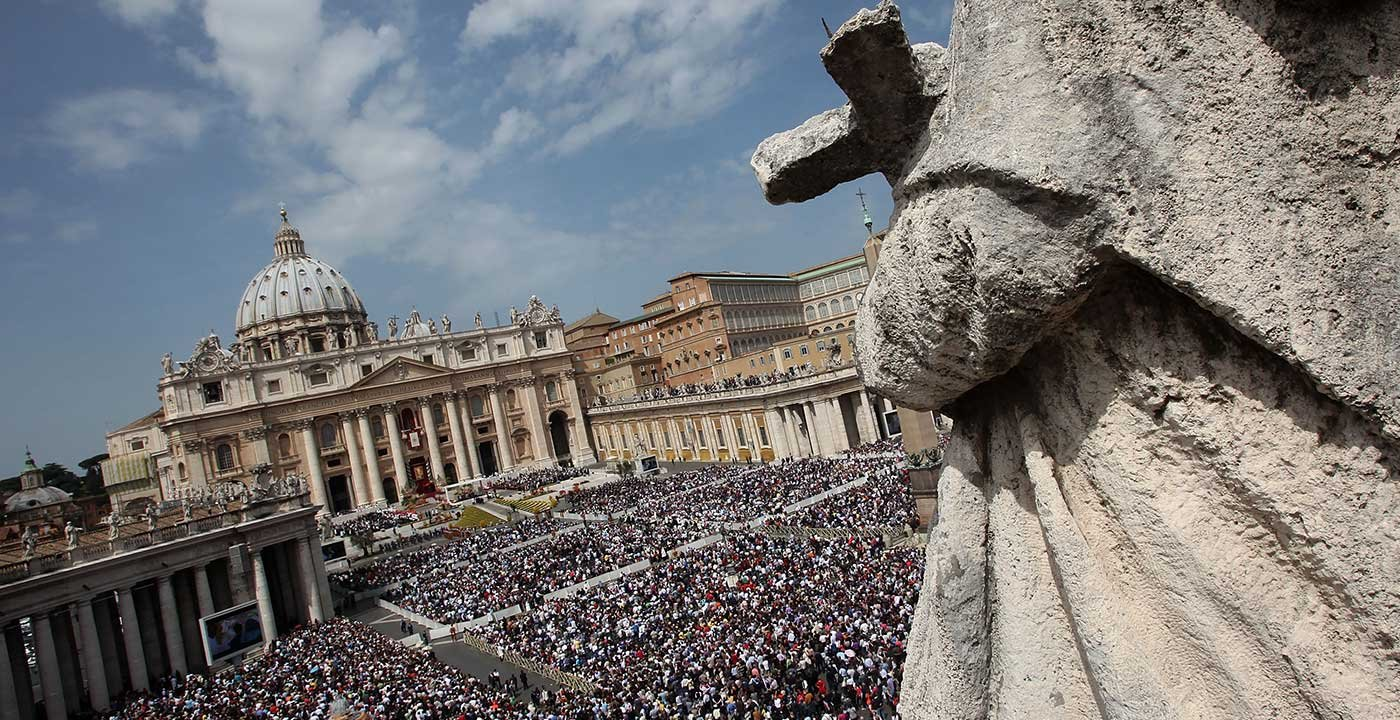 View of St. Peter's Square during the Easter Mass.