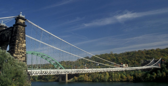 Wheeling Suspension Bridge, West Virginia