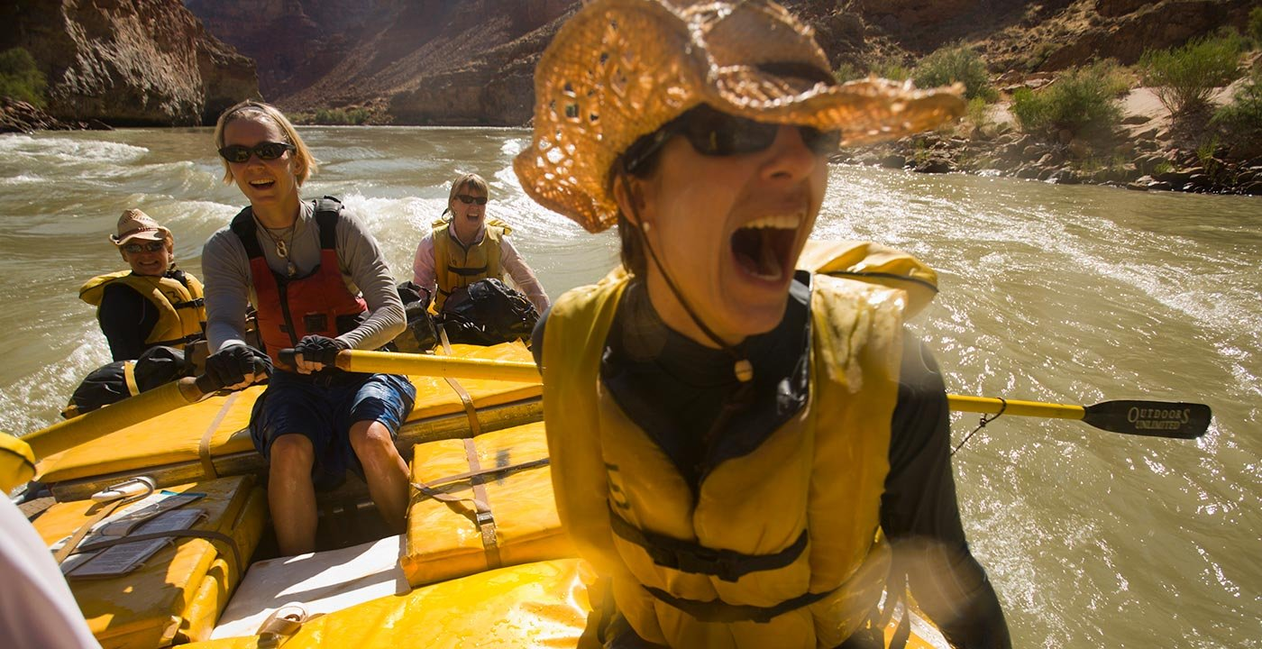 Shooting the rapids in the Grand Canyon