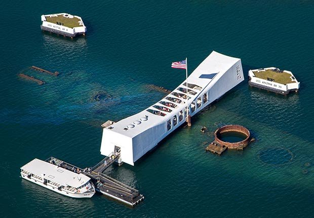 Ciudades para los aficionados a la historia - Honolulu, Hawaii USS Arizona Memorial en Pearl Harbor