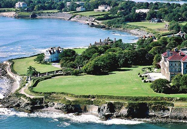 Ciudades para los aficionados a la historia - Newport, Rhode Island cliff walk