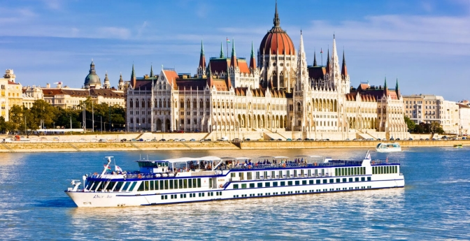 River cruise ship along the Danube.