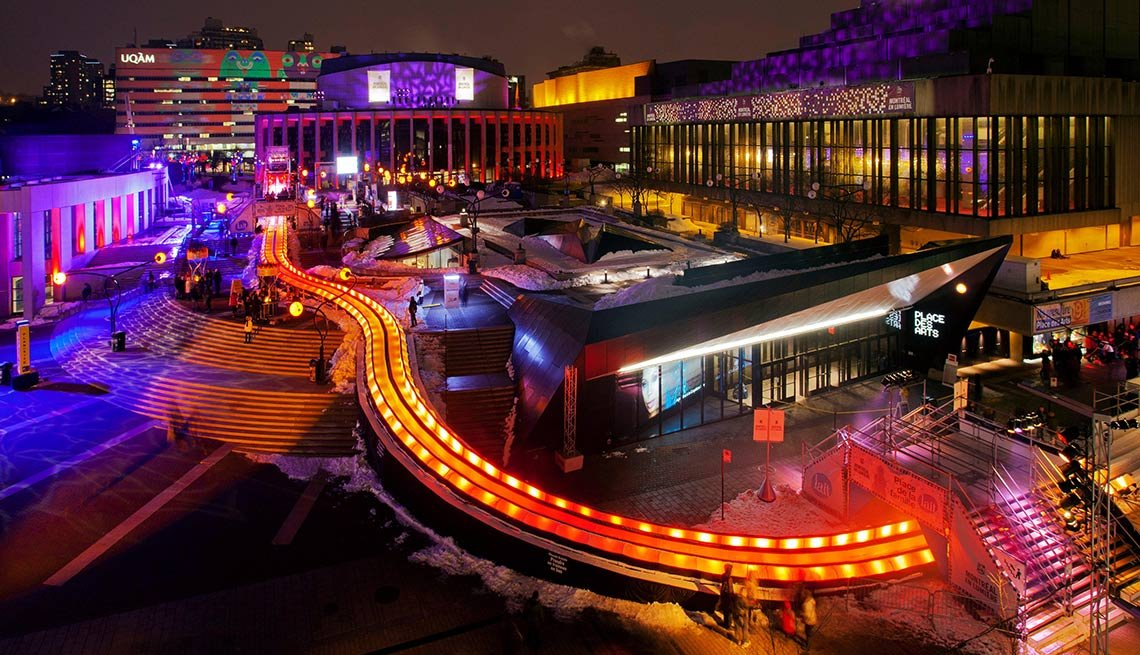 Affordable Winter Getaways - Montreal Canada Lumiere festival