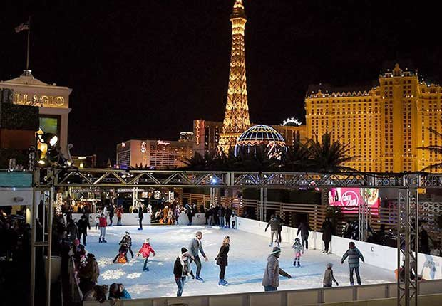 Affordable Winter Getaways - ice rink at The Cosmopolitan of Las Vegas