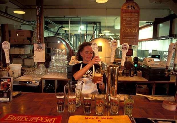 Ciudades donde la cerveza es única -  Cervecería en Portland Oregon