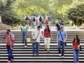 Estudiantes en el campus de la universidad - Consejos para visitas a los campus