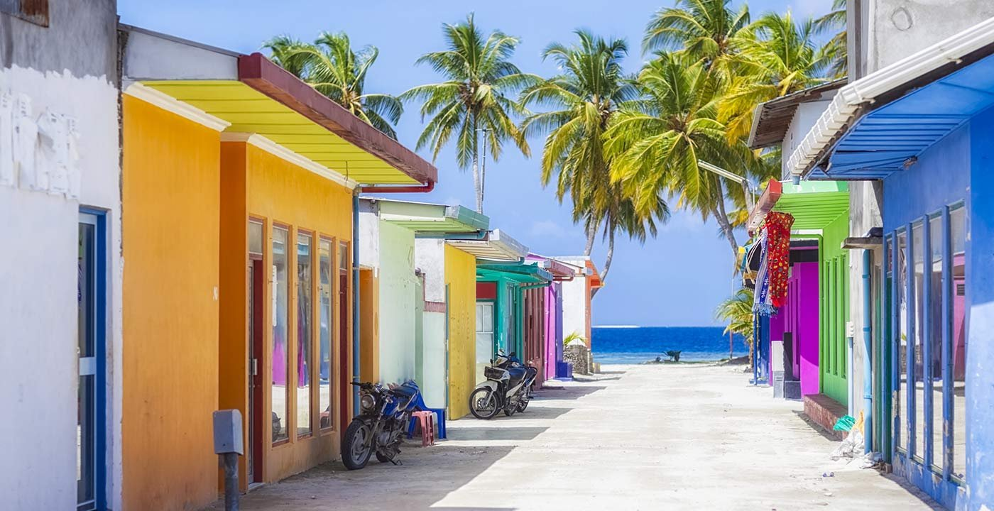 Street in Maldives