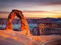 Arco de piedra en el Parque Nacional Arches, UT