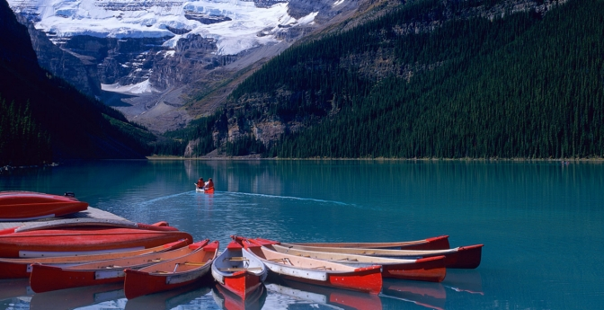 Lake Louise: Rocky Mountain Postcard