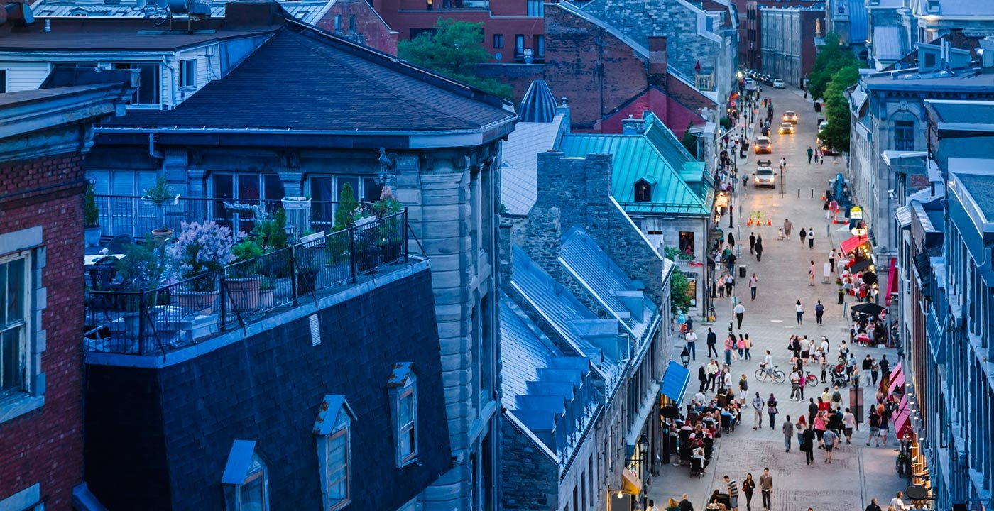 European Atmosphere in Old Montréal