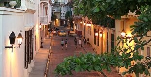 People Walking in Cartagena