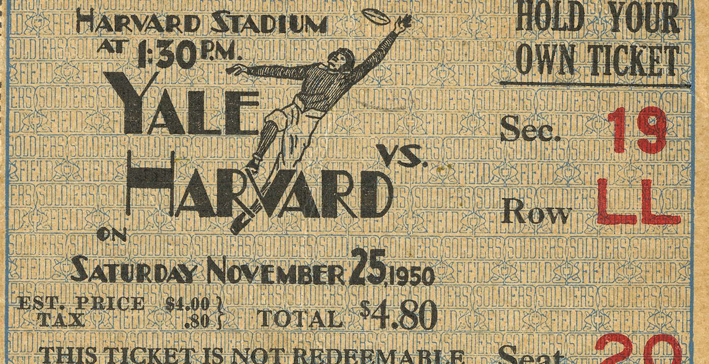 Catch the Harvard-Yale Football Game