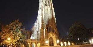 Duke University Chapel at Night