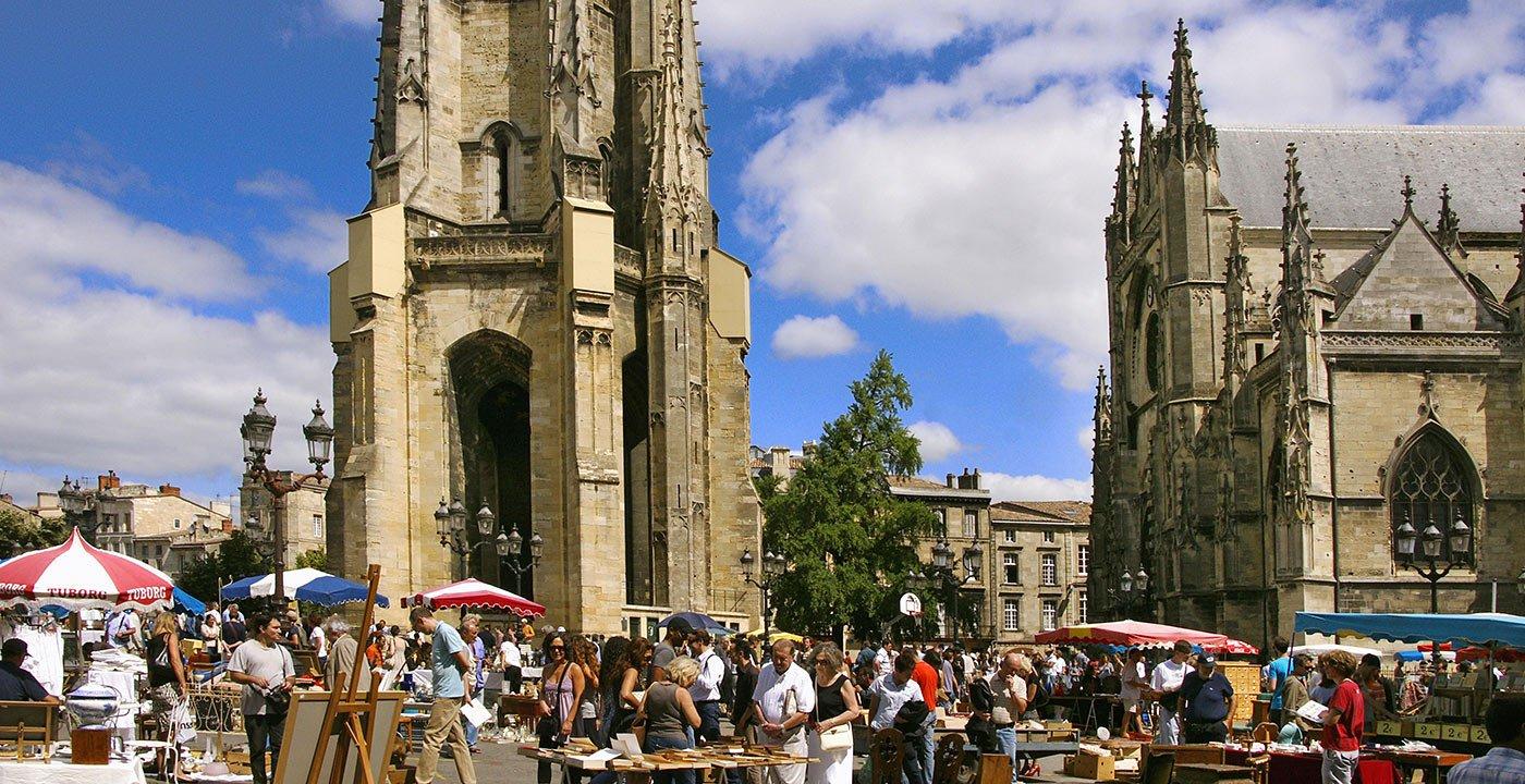 A Church and a Flea Market