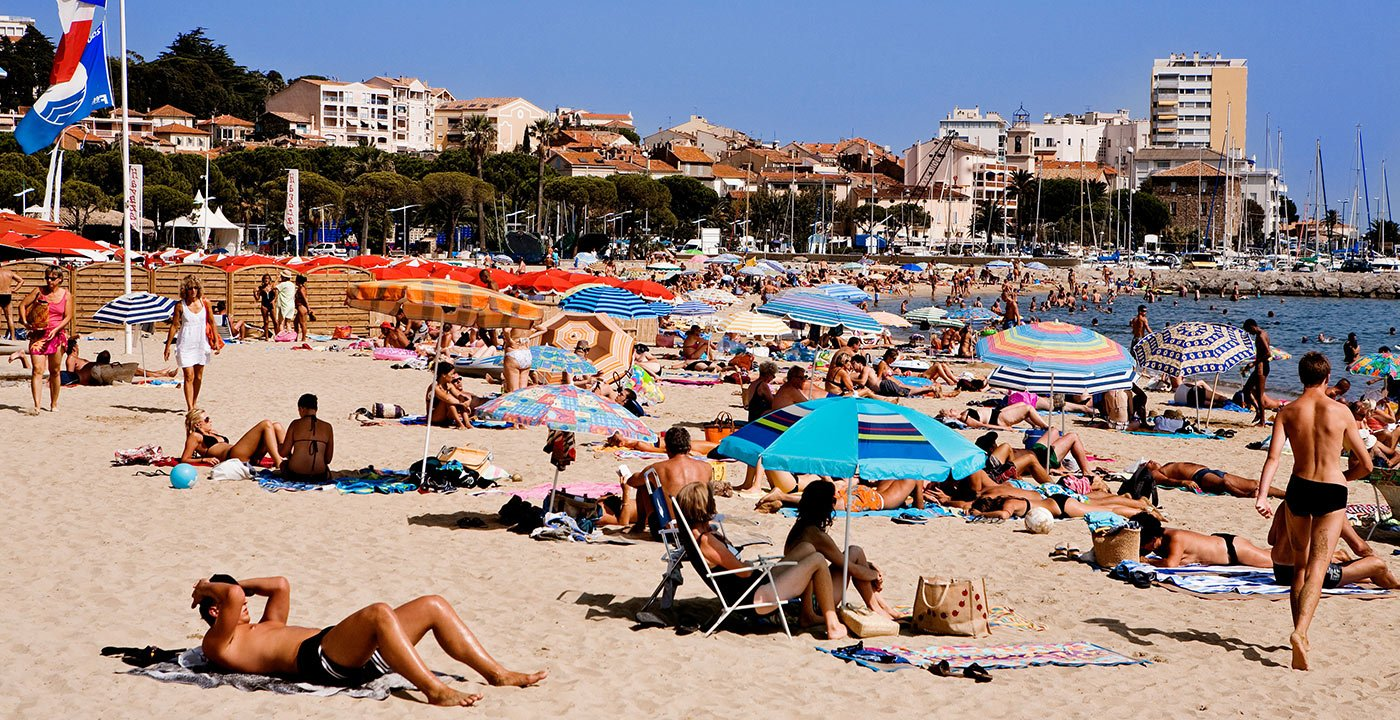 Sunbathe at Sainte-Maxime on the French Riviera