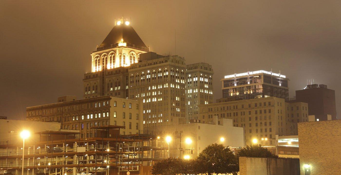 Downtown Greensboro at Night