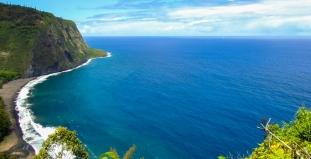 Shoreline Along Hawaii Big Island