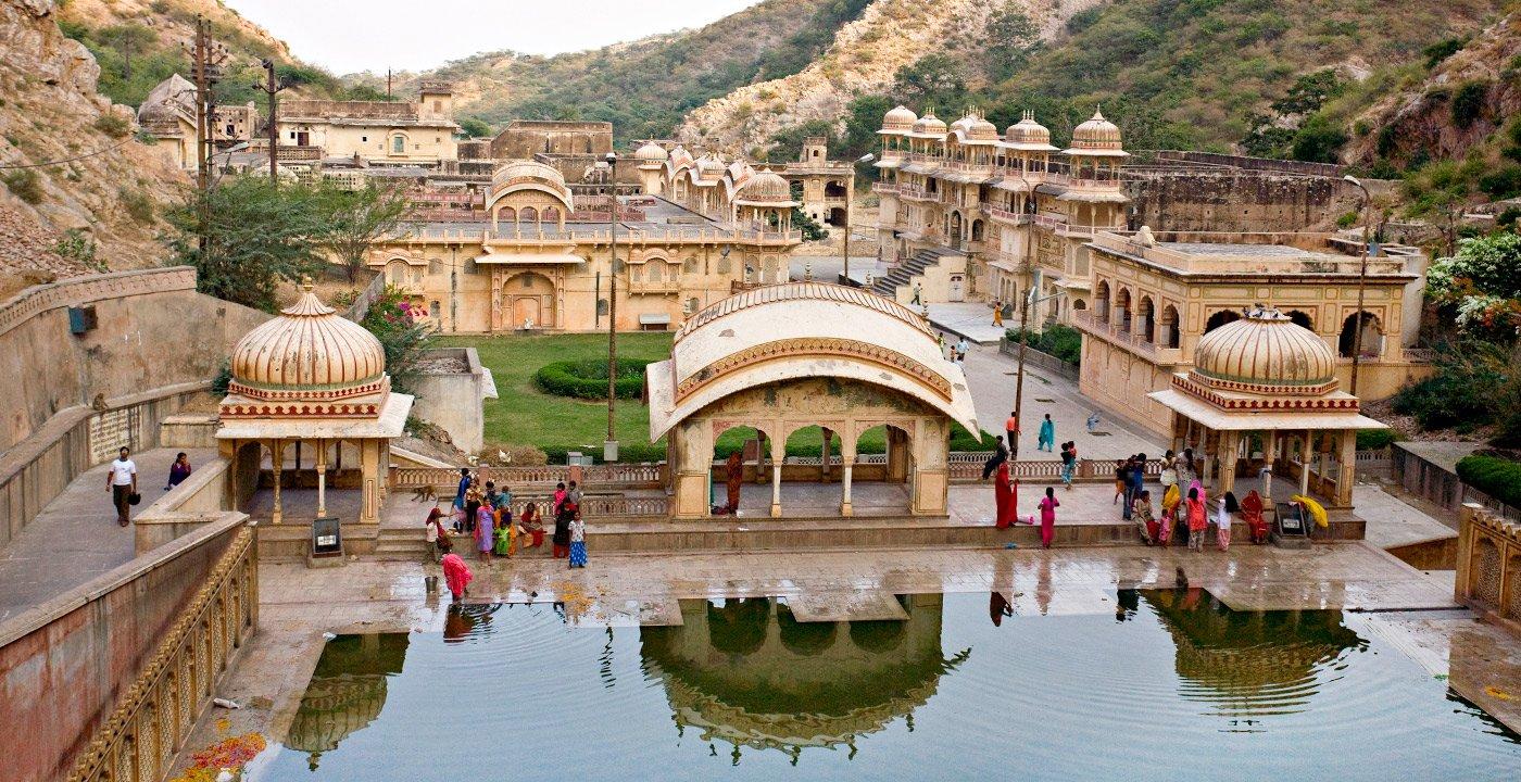 Galtaji in Jaipur, India