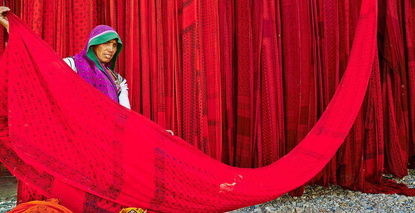 Sari Factory in Rajasthan, India