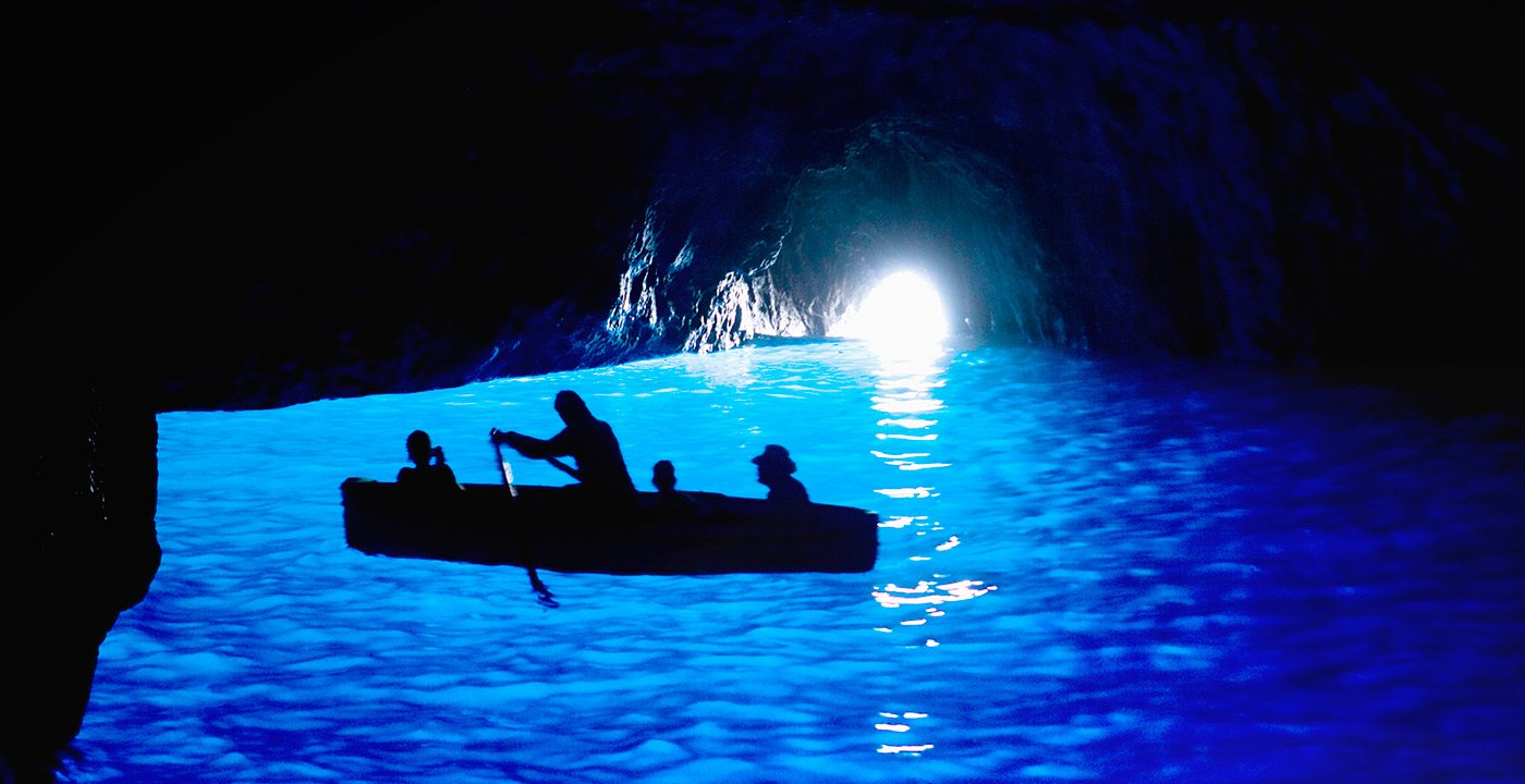 Boat Ride Into the Blue Grotto
