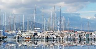 Boats Along Sardinia Marina