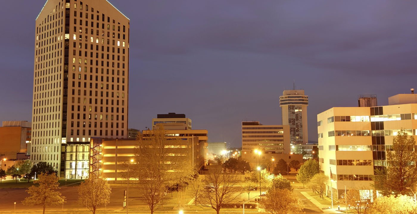Downtown Wichita at Night