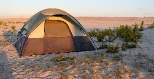 Camping at Assateague Island, MD