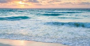 Waves at Cancun Beach