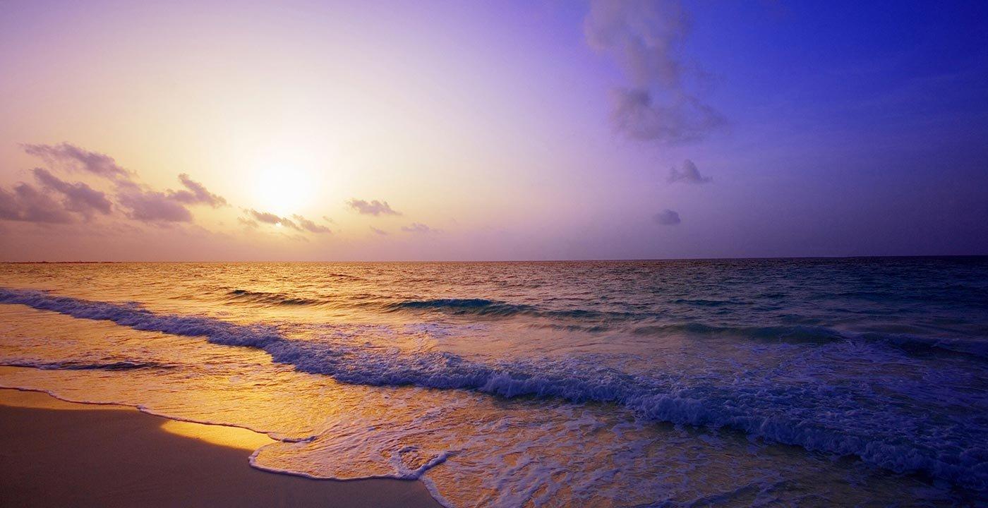 Playa del Carmen Beach at Night
