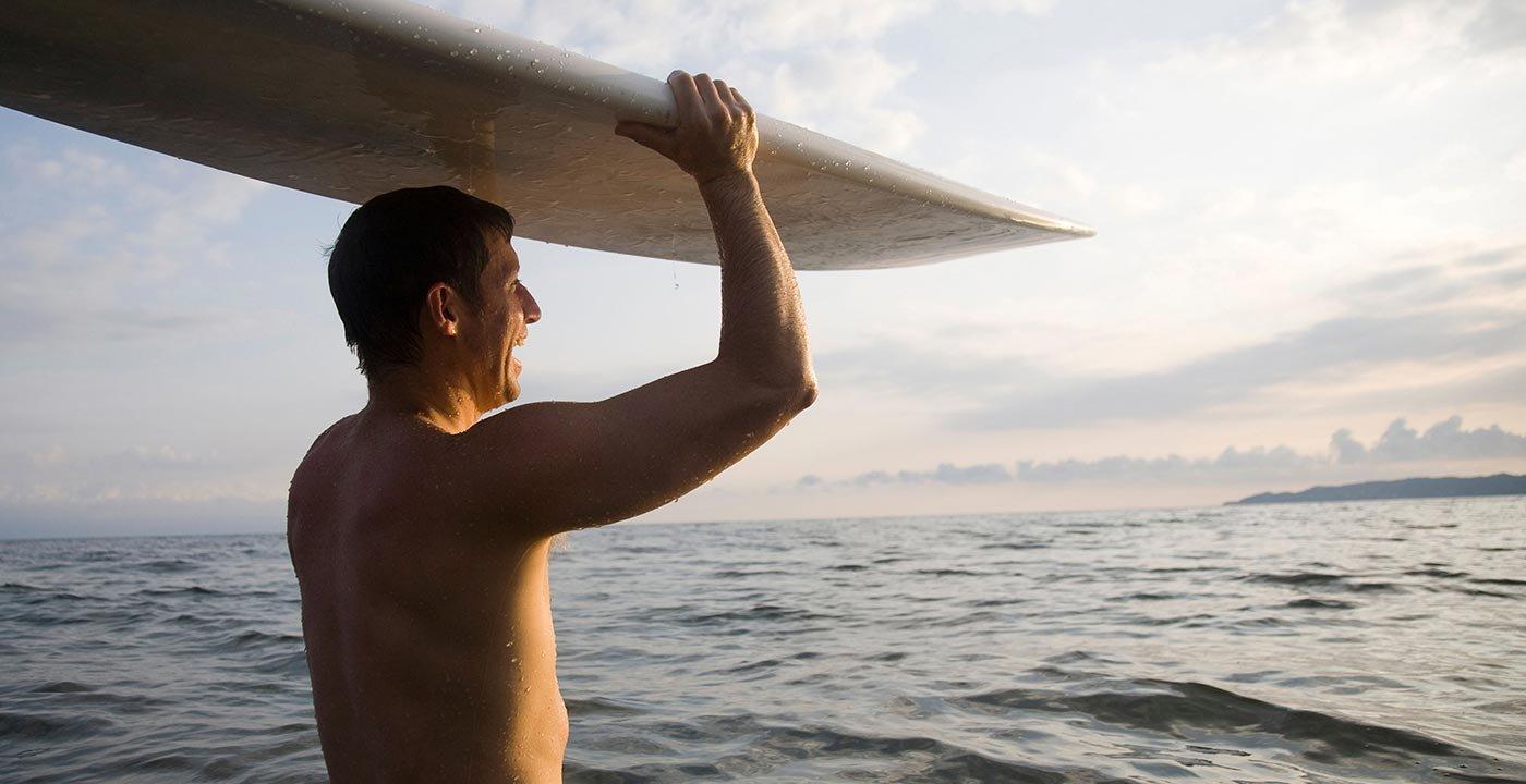 Man Surfing at Puerto Vallarta