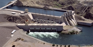 Davis Dam on the Colorado River