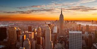 Beautiful Sunset in Midtown Manhattan
