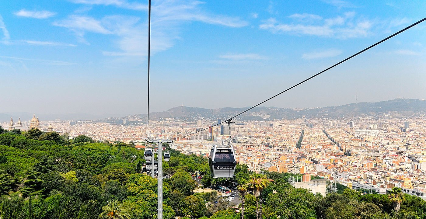 Ride the Cable Car up Montjuic Hill