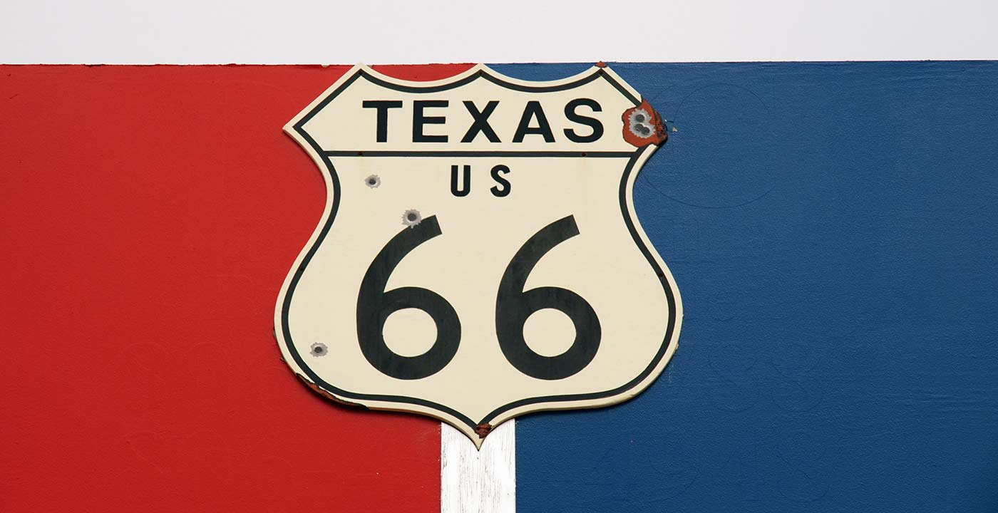 Mother Road Route 66 Sign