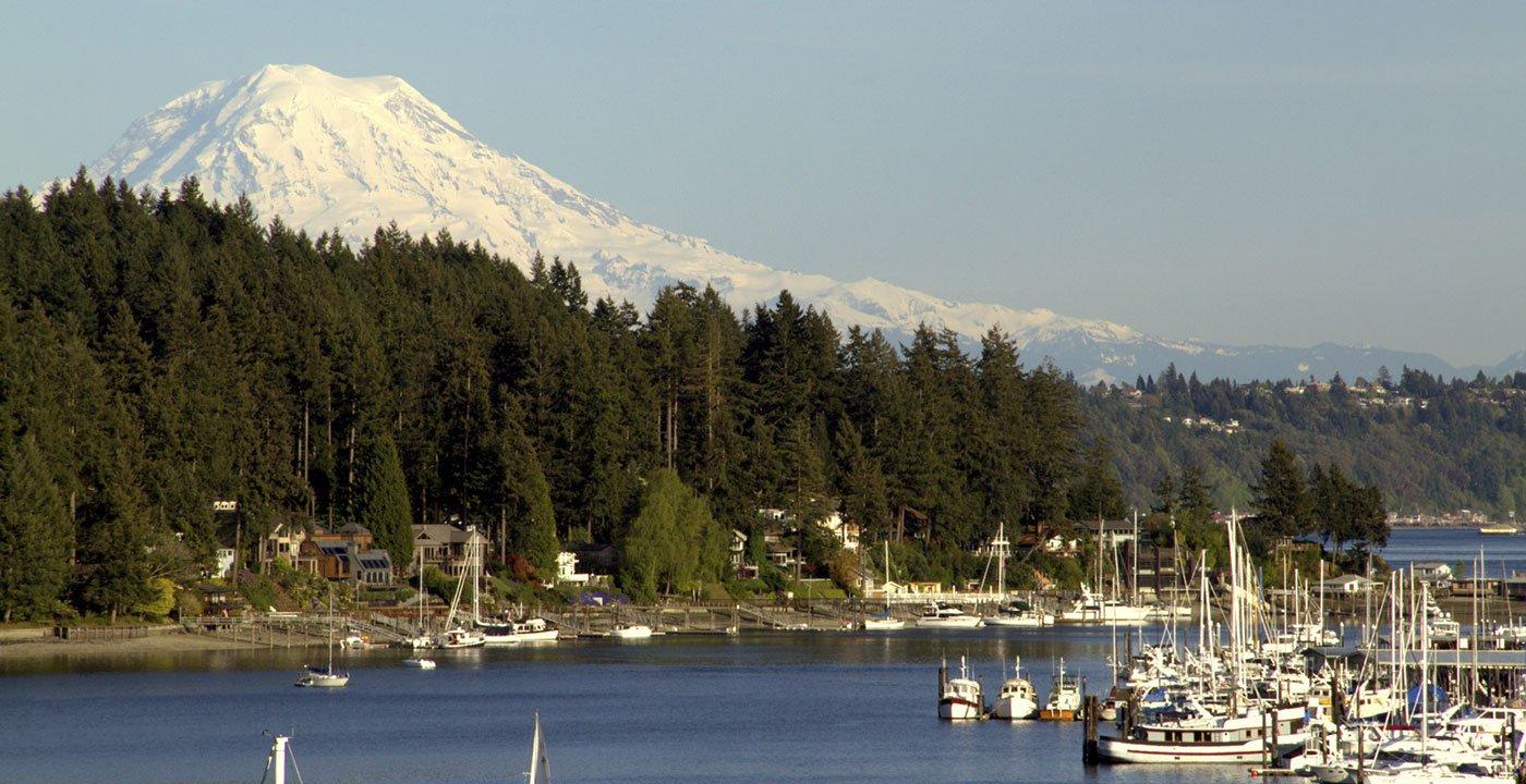 Gig Harbor and Mt. Rainier