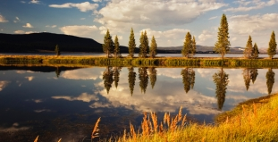 Lake and Mountains in Yellowstone National Park